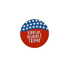 Kansas Against Trump Mini Button