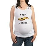 Bagel Junkie Maternity Tank Top