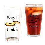 Bagel Junkie Drinking Glass