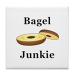 Bagel Junkie Tile Coaster