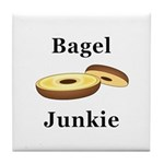 Bagel Junkie Tile Coaster