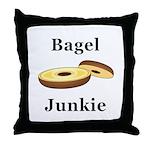 Bagel Junkie Throw Pillow