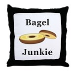 Bagel Junkie Throw Pillow