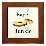 Bagel Junkie Framed Tile