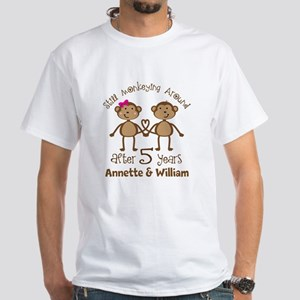 5th Anniversary Personalized Gift T-Shirt