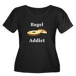 Bagel Ad Women's Plus Size Scoop Neck Dark T-Shirt