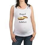 Bagel Addict Maternity Tank Top
