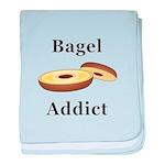 Bagel Addict baby blanket