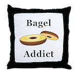 Bagel Addict Throw Pillow