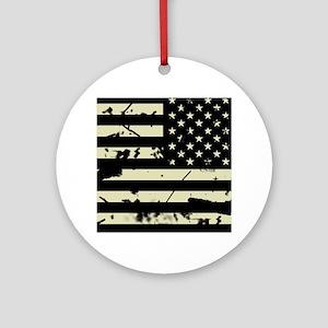 Weathered Reverse U.S. Flag (Sand) Round Ornament