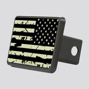 Weathered Reverse U.S. Flag (Sand) Hitch Cover