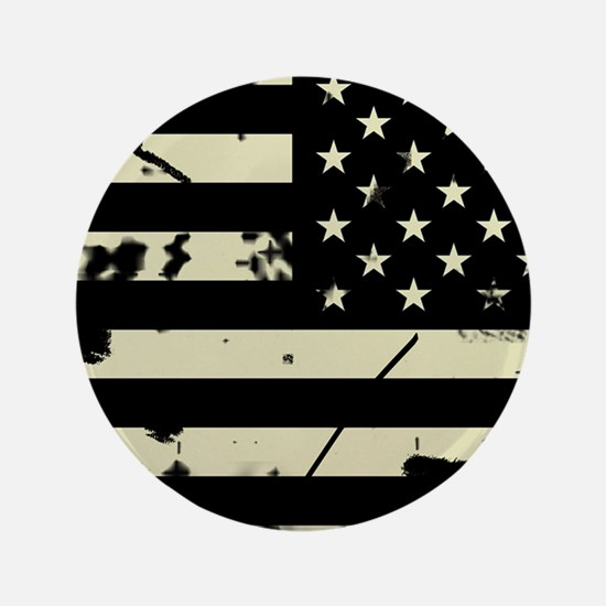 Weathered Reverse U.S. Flag (Sand) Button