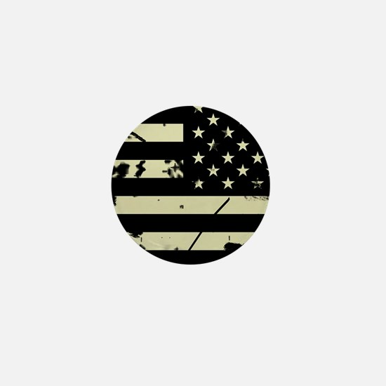 Weathered Reverse U.S. Flag (Sand) Mini Button