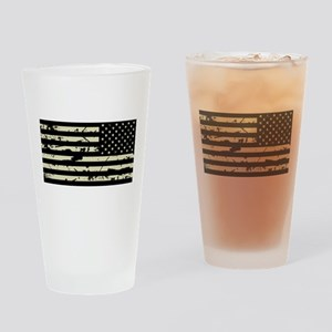 Weathered Reverse U.S. Flag (Sand) Drinking Glass
