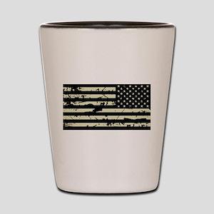 Weathered Reverse U.S. Flag (Sand) Shot Glass