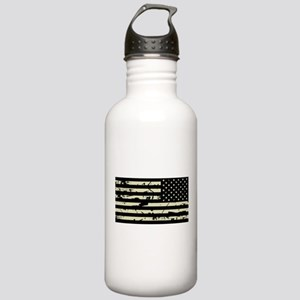 Weathered Reverse U.S. Flag (Sand) Water Bottle