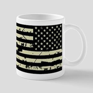 Weathered Reverse U.S. Flag (Sand) Mugs