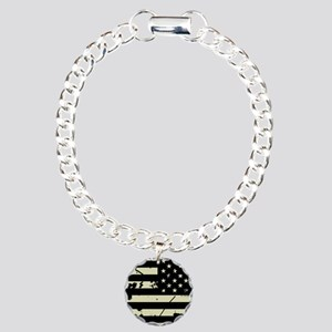 Weathered Reverse U.S. Flag (Sand) Bracelet