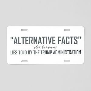 ALTERNATIVE FACTS Aluminum License Plate
