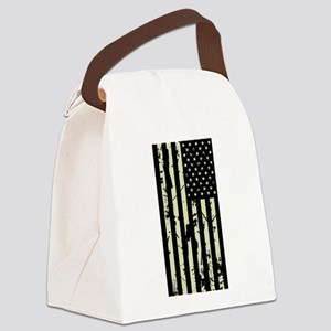 Weathered U.S. Flag (Sand) Canvas Lunch Bag
