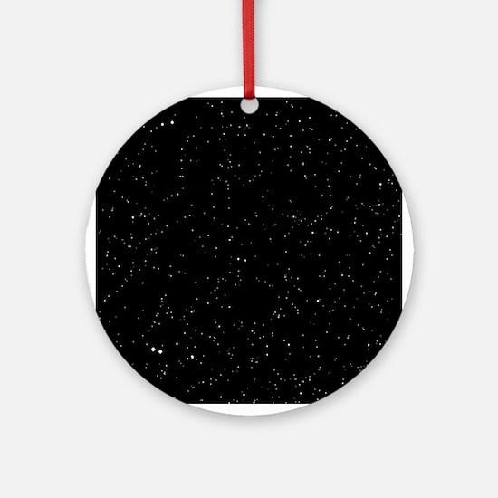 Space: Starfield Round Ornament