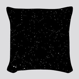 Space: Starfield Woven Throw Pillow
