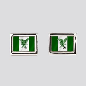 Nigerian Football Flag Rectangular Cufflinks