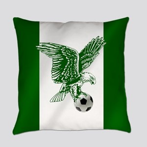Nigerian Football Flag Everyday Pillow