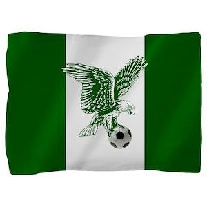 Nigerian Football Flag Pillow Sham