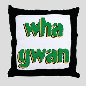 Wha Gwan Throw Pillow