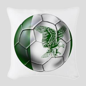 Nigeria Football Woven Throw Pillow