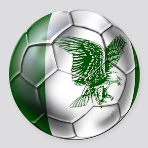 Nigeria Football Round Car Magnet