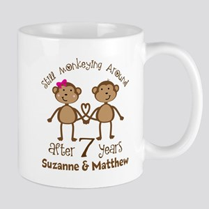 Funny 7th Anniversary Personalized Mugs