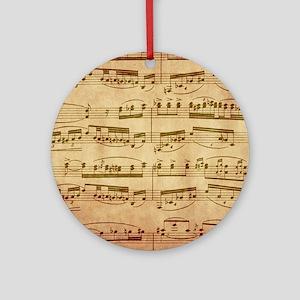 Vintage Sheet Music Round Ornament