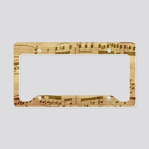 Vintage Sheet Music License Plate Holder