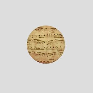 Vintage Sheet Music Mini Button