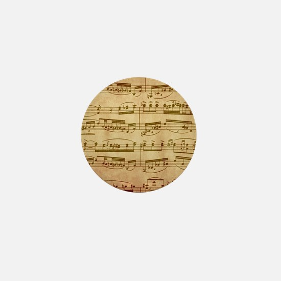 Vintage Sheet Music Mini Button