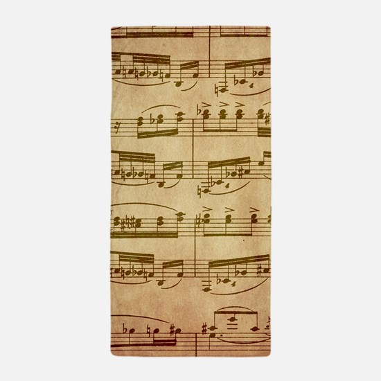 Vintage Sheet Music Beach Towel