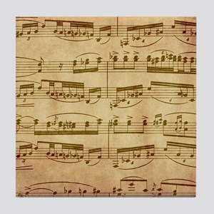 Vintage Sheet Music Tile Coaster