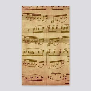 Vintage Sheet Music Area Rug