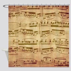 Vintage Sheet Music Shower Curtain