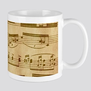 Vintage Sheet Music Mugs