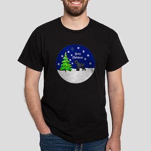 Schnauzer Merry Christmas Dark T-Shirt