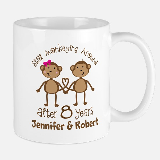 Funny 8th Anniversary Personalized Mugs