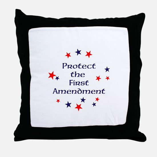 Protect the First Amendment Throw Pillow