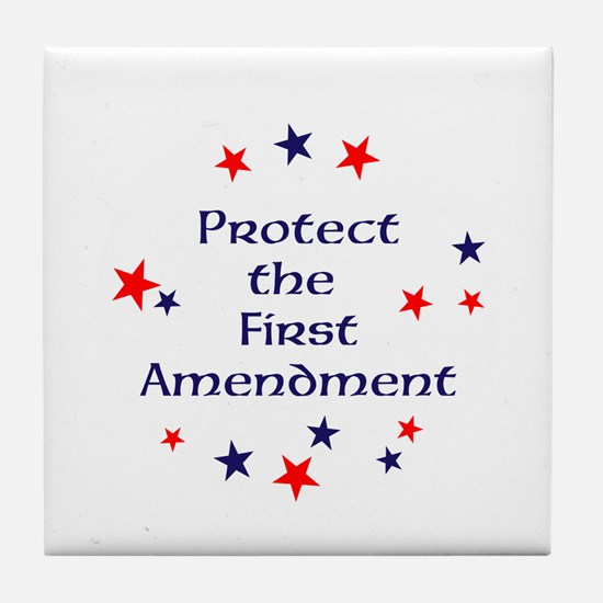 Protect the First Amendment Tile Coaster