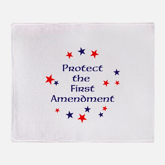 Protect the First Amendment Throw Blanket