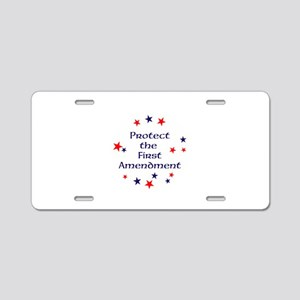 Protect the First Amendment Aluminum License Plate