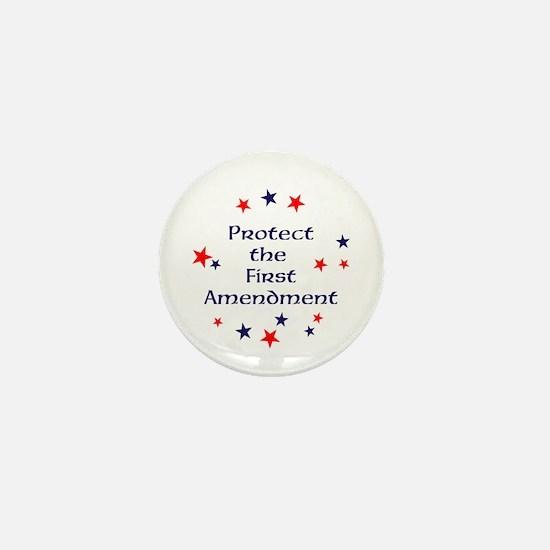 Protect the First Amendment Mini Button