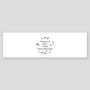 Protect the First Amendment Bumper Sticker